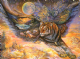 "Friendship Card ""Tiger Moth"" Friendship Greetings Card by Josephine Wall (FRG43447)"